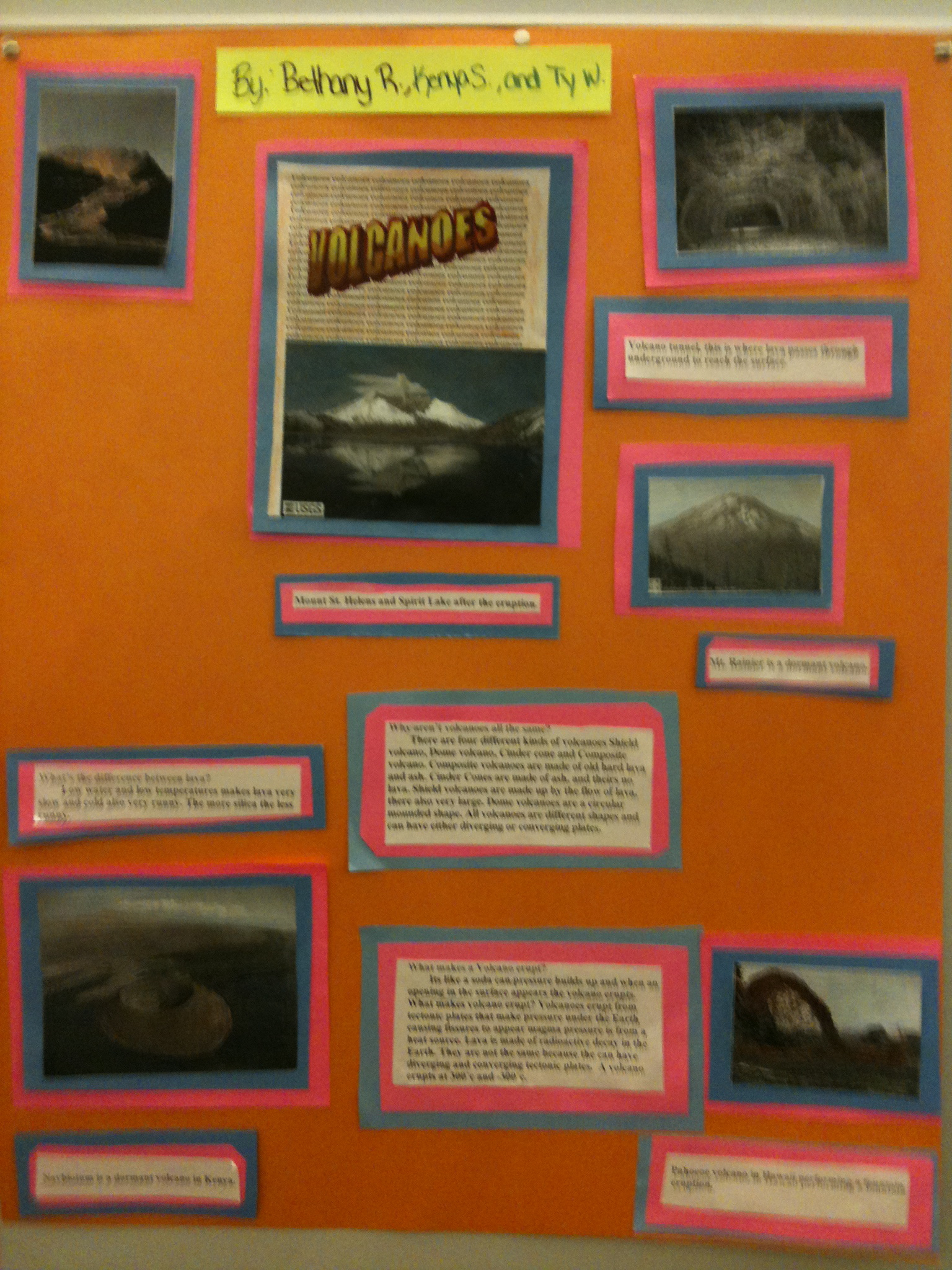 volcano student projects