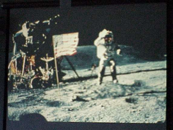 astronauts jumping on the moon - photo #11